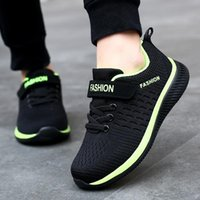 Athletic & Outdoor 2021 Fashion Kids Sport Shoes Boys Hook&Loop Running Sneakers Breathable Mesh Casual Children Walking Girl