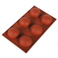 Maldas esfera de silicona Moldes de jabón de silicona Herramientas de decoración de pasteles Pudín Jelly Chocolate Fondant Molde Forma de bola Herramienta de galleta FWE6571