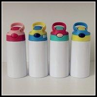 Sublimazione 12 once Watter Bottle Sicuramente bicchiere di dritto Stippy Coppa in acciaio inox Bottiglie per bambini in acciaio inox tazze di paglia mare spedizione rra5983