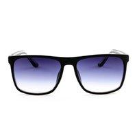 نظارات شمسية مربعة للرجال والنساء الإطار الكبير نظارات الشمس غير المستقطبة