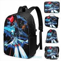 Backpack Funny Graphic Print Gradius USB Charge Men School Bags Women Cosmetic Bag Travel Laptop