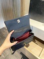 حقائب الكتف عالية الجودة السيدات حقائب فاخرة مصمم أزياء المرأة حقيقية الجلود crossbody الذهب والفضة وسلسلة محفظة 25 سنتيمتر # 19