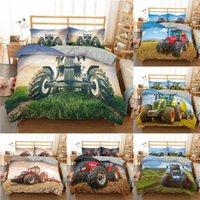 Bedding Sets 3D Truck Set Car Pattern Print Duvet Cover 2 3Pcs Quilt Single Twin Double Full Queen King Size Home Decor