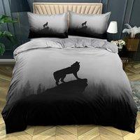Bedding Sets 3D Custom-make Animals Quilt Cover Set Wolves Design King Double Single Size Home Textile