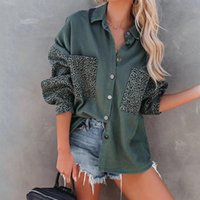 Women's Jackets Streetwear Denim Coat Thin Turn Down Collar Pocket Long Sleeve Female Jean Shirt 2021 Fashion Women Clothes Jacket