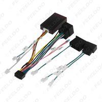 Adaptateur de harnais de câblage audio de voiture 16pin avec boîte à canbus pour Mercedes-Benz W209 (02-06) / W203 (01-04) Installation stéréo # 6777