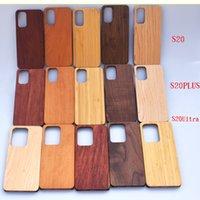 أعلى المورد الحقيقي حالة الهاتف الخشب لسامسونج S20 بلس ملاحظة 10 S10 الحالات امتصاص الصدمات خشبية + غطاء الكمبيوتر