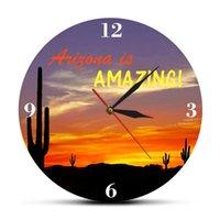 Аризона удивительная Большой Saguaro Кактус современные настенные часы пустынные часы декор дома юго-западный арт сувенирная часы