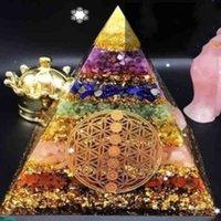 5/6 cm Orgonite Pyramid Ametista Sfera di cristallo con albero di Cabala Natural Cristal Stone Energy Healing Reiki Chakra Multiplicatore Q0525