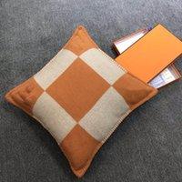 고품질 베갯잇 홈 럭셔리 편지 H 베개 커버 쿠션 커버 장식 베개 케이스 45x45cm 선물