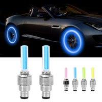 Car Motocycle Wheel LED Light Tire Valve Cap Decorative Lantern Neon Lamp Flash Spoke