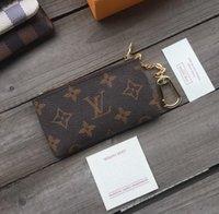 """LV """"Louis"""" Vitton Vutton Key Bolsa Cocesa Cles Designer Mini Carteira Moda Mulher Mens Chaveiro Titular Cartão de Crédito Moeda Bolsa de Luxo com Caixa Dustbag"""