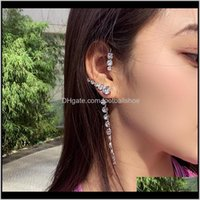 Dangle & Chandelier Jewelry1Pc Big Ear Cuff Women Statement Shinning Crystal Hanging Earrings Handmade Party Jewelry1 Drop Delivery 2021 Ijy