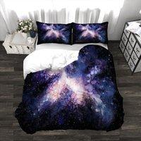 Ensembles de literie Galaxy Nébuleuse Star Clusters 3PCS Couverture de couette Set imprimé Coulette Couette à glissière Toutes les tailles