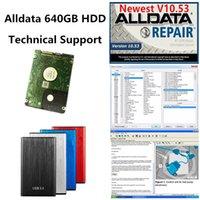 2021 Hot Auto Repair Soft-Ware AllData V10.53 Vivid 10.2 ATSG em HDD 640GB com suporte técnico para carros e caminhões USB 3.0