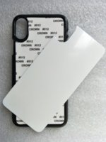 Blank 2D Sublimation Hard PC Cases for iPhone 12 Mini Pro Max 11 X XR 7 8 Plus with Aluminum Insert Plate