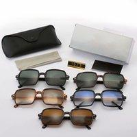Quadratische Rahmen suanglasses Womens Herren Sonnenbrillen Die hellen Farblinsen UV380 Brillen der Männer Sommerbrille mit Fall