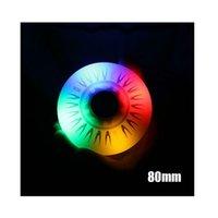 Inline Skate Wheels Blinkande glidrulle 90A LED Lighting Skridskoåkning Hjul 68/72 / 76 / 80mm Färgglada Flash Tillbehör