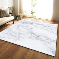 Noir Marbre Blanc Chambre Imprimé Cuisine Grand tapis pour salon Tatami Canapé Canapé Plancher Tapis anti-dérapage Tapis Salon Dywan 389 R2