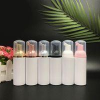 60 ملليلتر زجاجات موزع رغوة مضخة مع مضخة الذهب أعلى- البلاستيك التجميل ماكياج التخزين الحاويات 2 أوقية زجاجة مضخة فومر