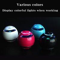 블루투스 스피커 미니 휴대용 무선 사운드 바베이스 Boombox 사운드 박스 마이크 TF 카드 FM 라디오 LED 빛