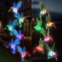 Garten Dekorationen Outdoor Solar LED Beleuchtung Kolibri Seven Color allmähliche Änderung Kronleuchter Innenhof