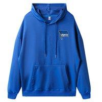 2021 2022 Hertha BSC Men Hoodies Adult Sweatshirts Jacket Top Football Outdoor Sportwear Athletic Soccer Air Autumn Winter Cloth