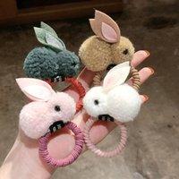 Fashion Cute Ball Rabbit Capelli Anello Femminile Cravatta Corda Coreana Elastico Gomma Capelli Bands Bunny Accessori per capelli per bambini