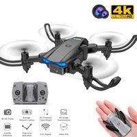 KY906 Mini Drone 4k Profesional HD Dual Cámara WiFi FPV DRON One-Tecny Devuelto 360 Rolling RC Helicopters Drones Gift Juguetes