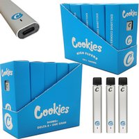 Cookies Disposable Vape Pen Device Pods High Fylers Packaging Rechargeable 240mah Battery 1ML Delta 8 E Cigarettes Vapes Pod Thick Oil Vaporizer Pens Snap-on Tips