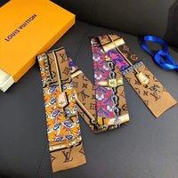 Luxo marca feminina moda lenços desenhista headband clássico bolsa lenço de alta qualidade material de seda tamanho 8 * 120 cm