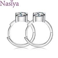 Fashion 925 Sterling Silver Stud Earrings 6.5MM ZIrcon Moissanite Vintage Can Pass Diamond Test Fine Jewelri