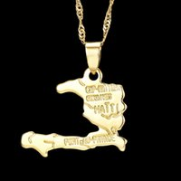 pingentes pingentes haiti pingente 18k banhado a ouro colar lotes mistos do mapa do mundo