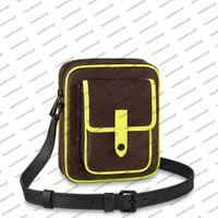 M80793 Christopher Wearable Brieftasche Frauen Männer Designer Mini Bag Handtasche Floreszierende Gelb Wade Leder Kupplung Crossbody Schultertasche Geldbörse