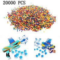 20000 stücke Bunte weiche Kristallbombe Wasserkugel Paintball Kugel Spielzeug Babel Air Dart Gun Zubehör
