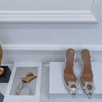 Sonnenblumenwasser Diamant High Heeled Sandal Damen 2021 Web Celebrity-Stil mit spitzer dünner Ferse