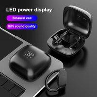 Bluetooth наушники беспроводные наушники Светодиодные наушники TWS Sport Sport Heam Consum Отмена Водонепроницаемые наушники для смартфонов