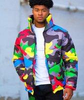 2020 yeni tasarım kısa erkek pamuk yastıklı ceket popüler tarzı, erkekler ve kadınlar renk giyebilir kamuflaj baskı ve boyama ekmek ceket, aşk