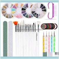 Kits Salon Health BeautyProfession Tool à ongles Set Peint Point Point Point Perceuse Manucure Fichier Art Strass Bijoux Acrylique Design Kit1 Drop del