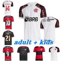 21/22 Flamengo futebol jerseys 30º aniversário diego gabriel b. de arrocaeta b.henrique gk colete mangas compridas homens kits kits kits jersey