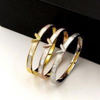 Brand di lusso Brand Natural Shell Shape Braccialetto per le donne uomini fascino cabro cavo lettera braccialetto amore argento-colore pulseiras