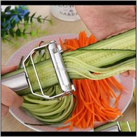 Knives Aessories Kitchen, Dining Bar Home & Garden Drop Delivery 2021 High Quality Stainless Steel Potato Cucumber Carrot Grater Julienne Veg