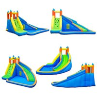 Wet OrDry Inflatable Slide Garden Supplie Bounce House Jumper Slides Park Combo For Kids Outdoor Party Water Parks With Spray Summer Play Games
