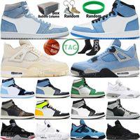 Hiper Kraliyet 1 1 Süt Üniversitesi Mavi Racer Erkek Basketbol Ayakkabıları 4 4 S Yelken Obsidiyen UNC Gümüş Toe Kara Kedi Bred Paramparça Backboard Erkekler Spor Kadın Sneakers Eğitmenler