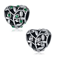 Fits Pandora Bracelets 20pcs Heart Crystal Snake Spacer Silver Charms Bead Charm Beads For Wholesale Diy European Sterling Necklace Jewelry