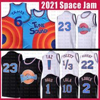 Spazio di film Inceppamento Tune Squad 2021 23 1 Bugs Lebron 6 James Basket Bales Banky Youth Mens Blue 22 Bill Murray 10 Lola D.Duck! Taz 1/3 tweety.