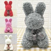 40 سنتيمتر عيد الفصح الأرنب محاكاة روز أرنب الحيوان الشكل روز هدية جميلة عيد الفصح ديكور المنزل الشحن DHD5818