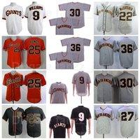 1962 1989 Vintage 25 Barry Bonds Retro Baseball Jersey 9 Garrett Williams 22 McCutchen 27 Juan Marichal 30 Orlando Cepeda Toda a qualidade superior