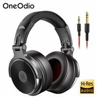 oneodio 유선 헤드셋 전문 스튜디오 프로 DJ 헤드폰이있는 Mic Dual-toual 케이블 HIFI 모니터 음악 헤드셋 전화 PC 용