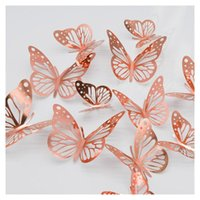 Wall Stickers Metal Texture 3d Stereo Hollow Simulation Butterfly Children's Room Bedroom Living Wallpaper Decoration #10